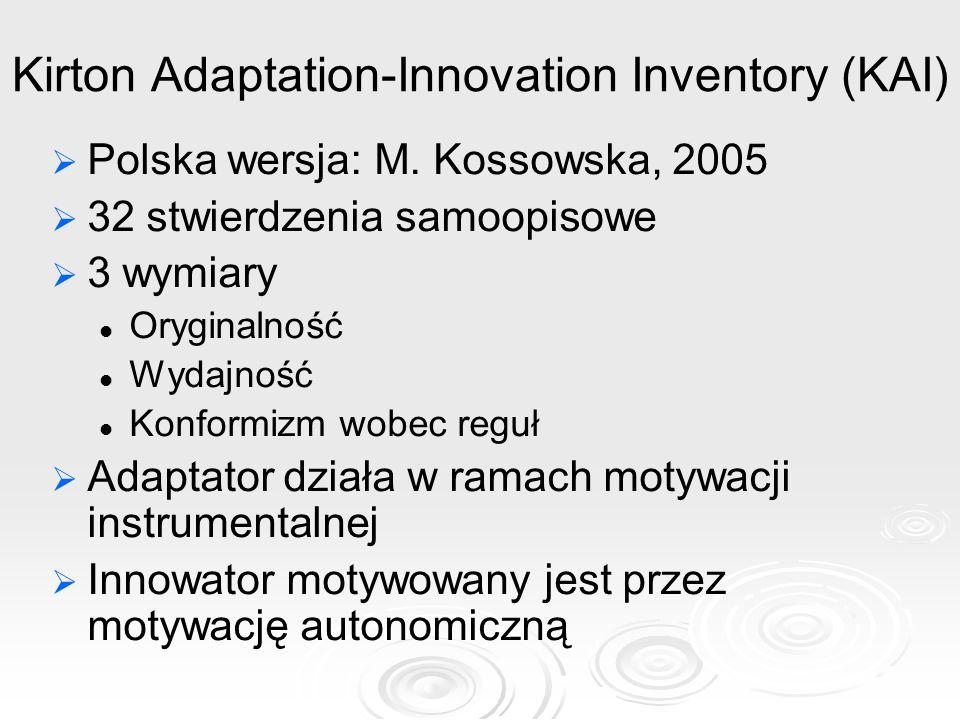 Kirton Adaptation-Innovation Inventory (KAI)