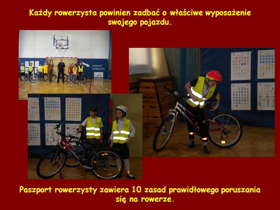 Każdy rowerzysta powinien zadbać o właściwe wyposażenie swojego pojazdu.