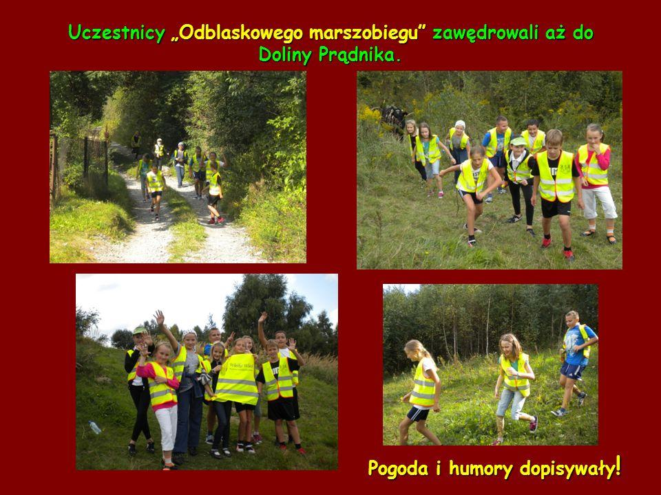 """Uczestnicy """"Odblaskowego marszobiegu zawędrowali aż do Doliny Prądnika."""