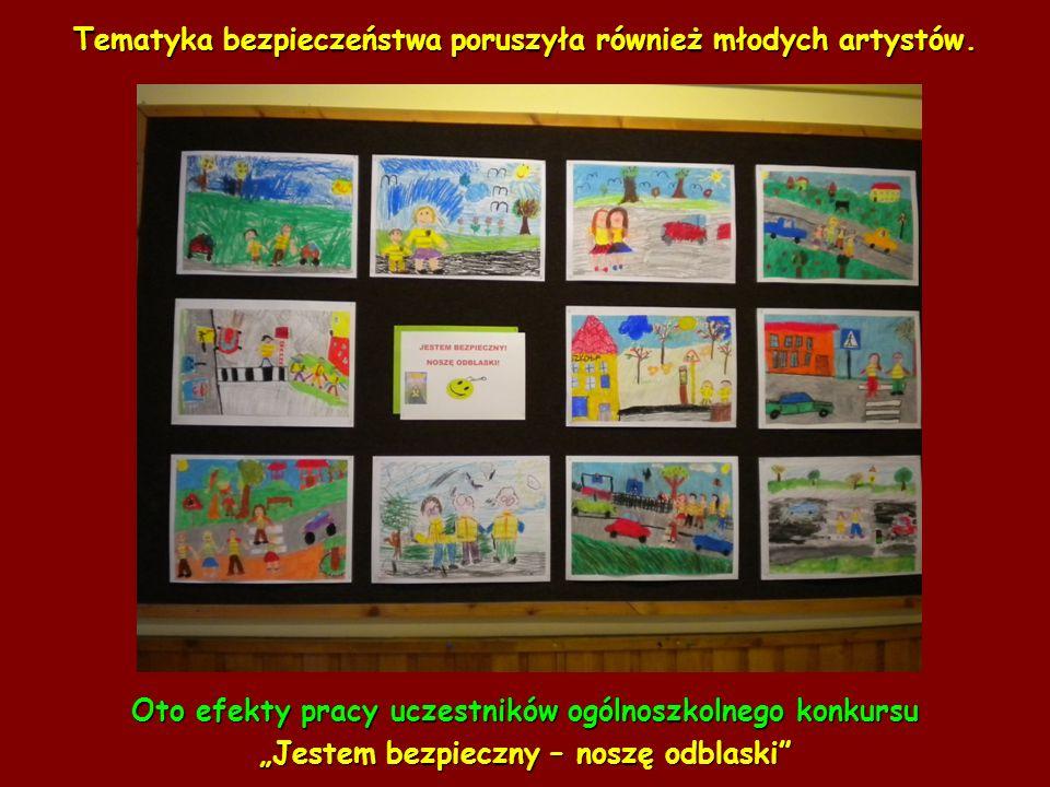 Tematyka bezpieczeństwa poruszyła również młodych artystów.