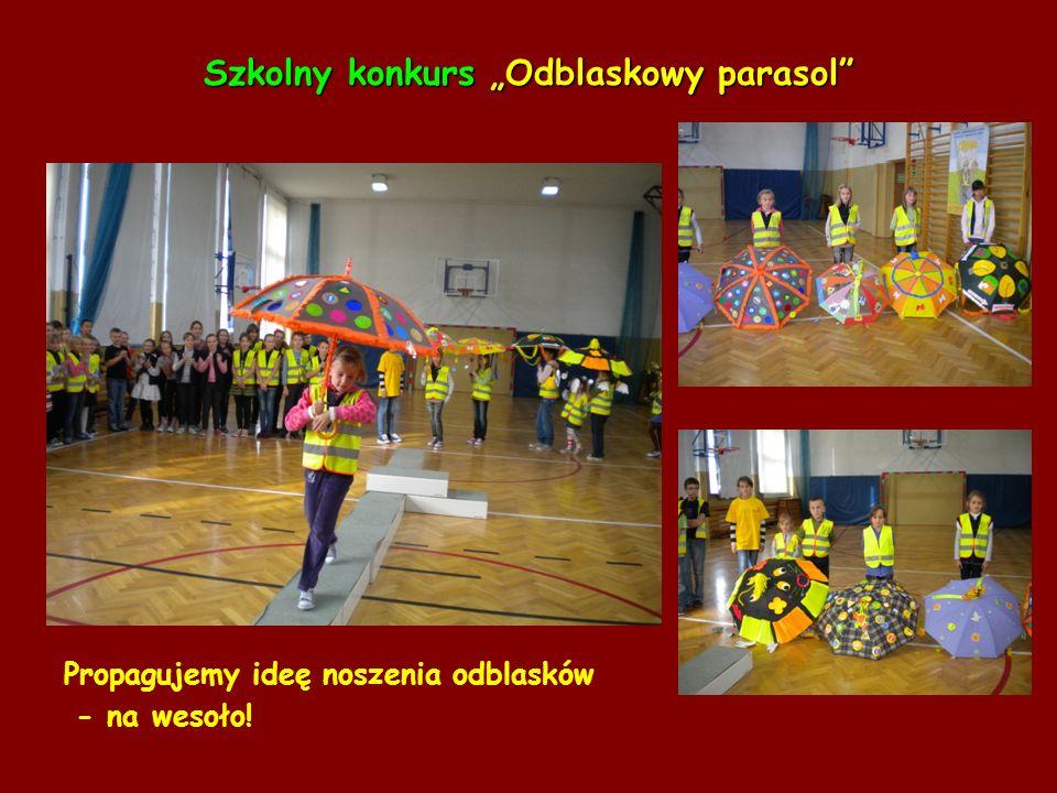 """Szkolny konkurs """"Odblaskowy parasol"""