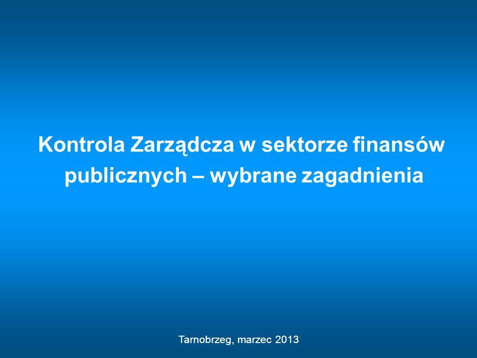 Kontrola Zarządcza w sektorze finansów