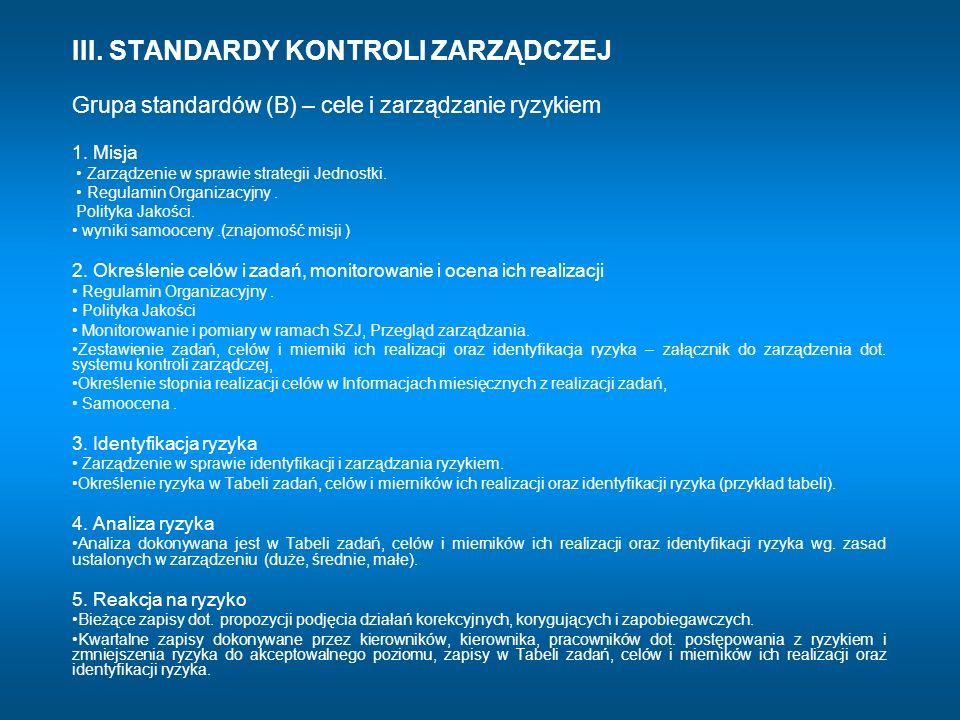 1. Misja • Zarządzenie w sprawie strategii Jednostki.
