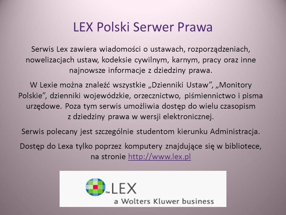 LEX Polski Serwer Prawa