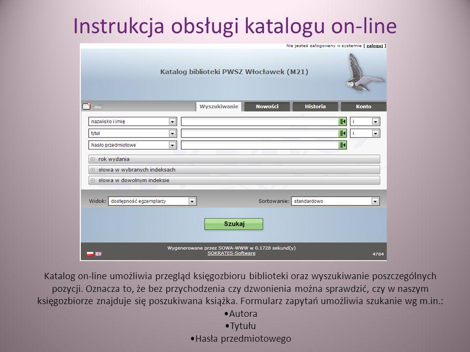 Instrukcja obsługi katalogu on-line