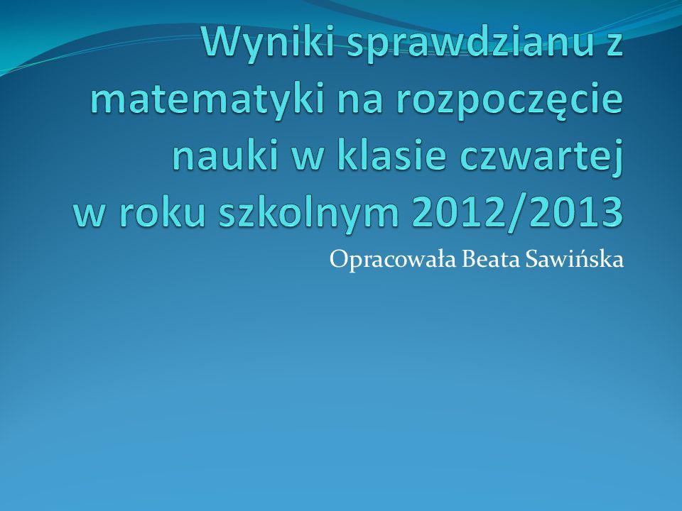 Opracowała Beata Sawińska