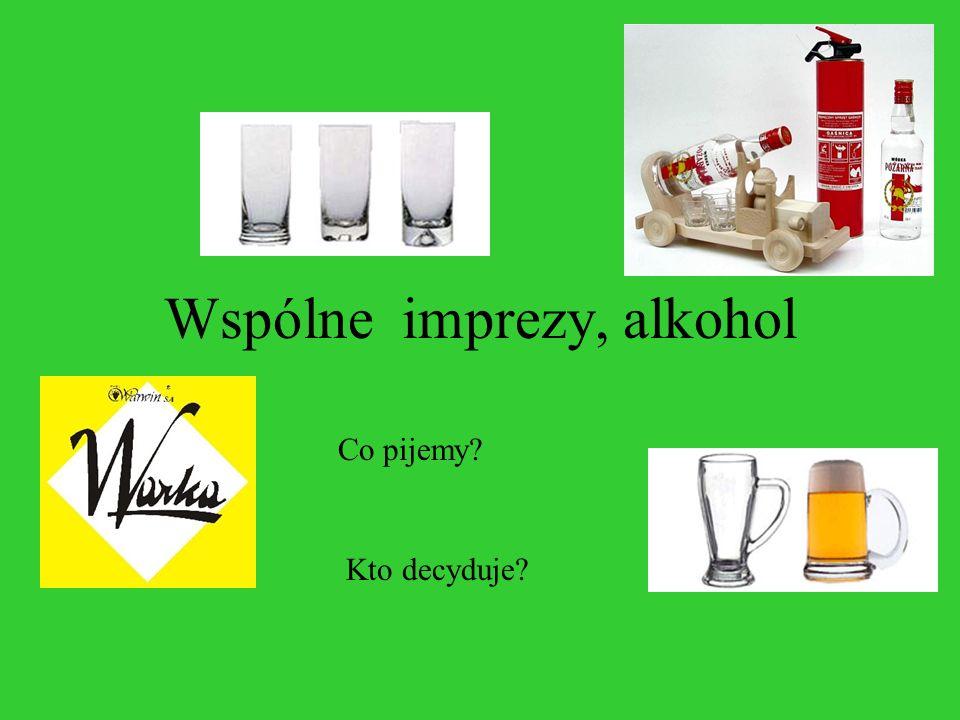 Wspólne imprezy, alkohol