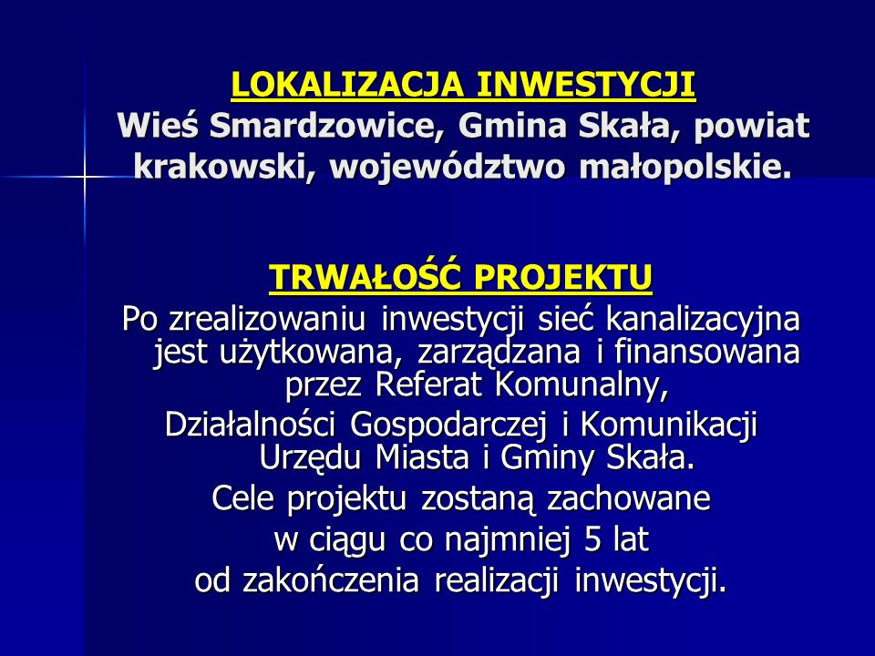 Działalności Gospodarczej i Komunikacji Urzędu Miasta i Gminy Skała.