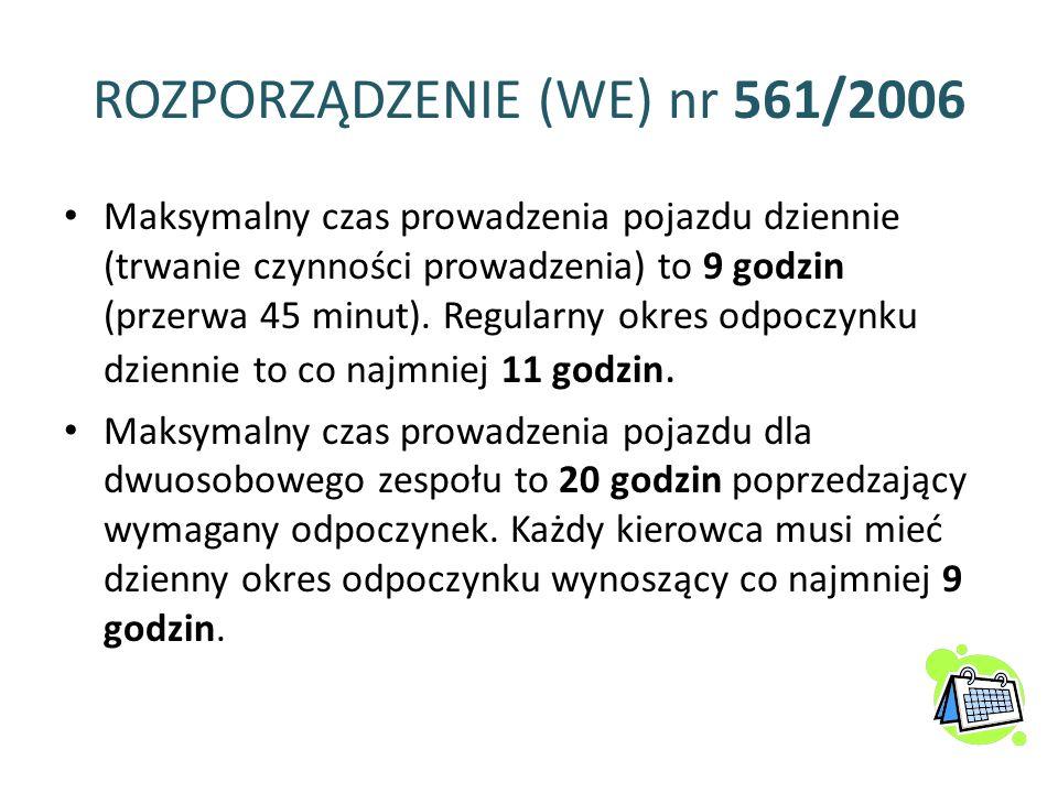 ROZPORZĄDZENIE (WE) nr 561/2006