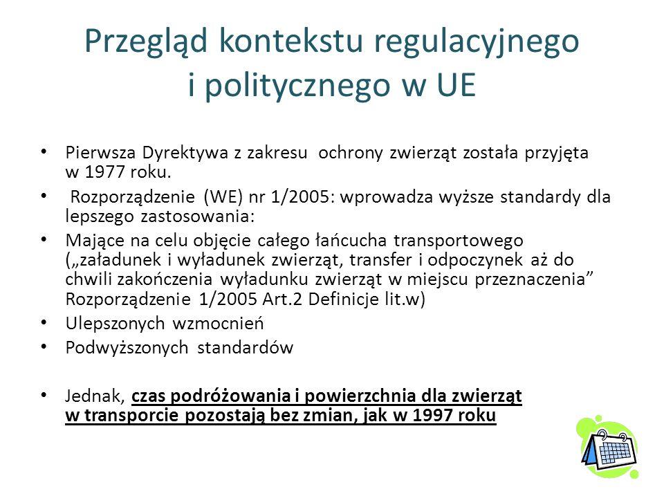 Przegląd kontekstu regulacyjnego i politycznego w UE