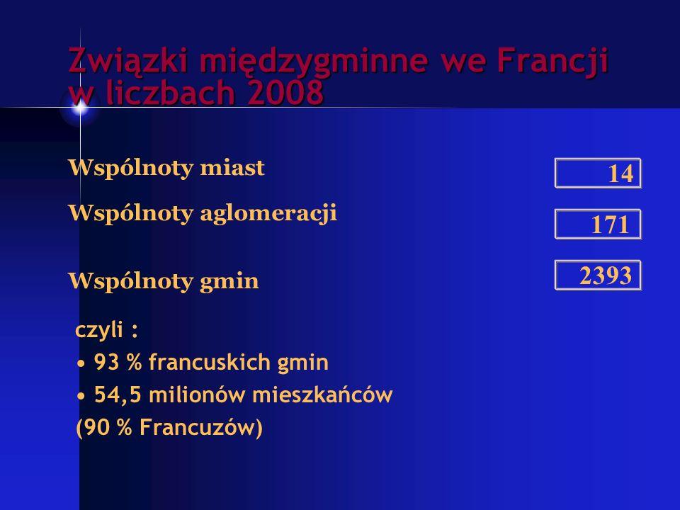 Związki międzygminne we Francji w liczbach 2008