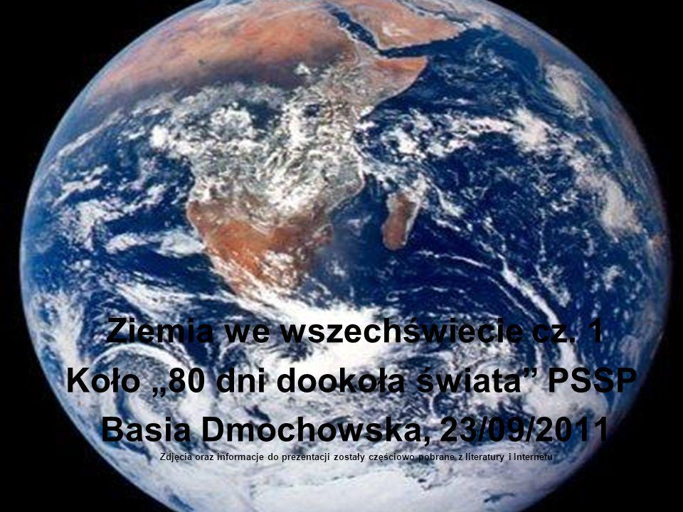 """Ziemia we wszechświecie cz. 1 Koło """"80 dni dookoła świata PSSP,"""