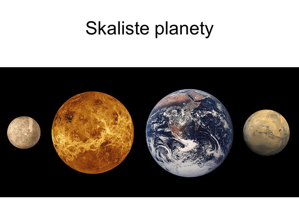 Skaliste planety Mają niewielkie rozmiary i są zbudowane ze skał.