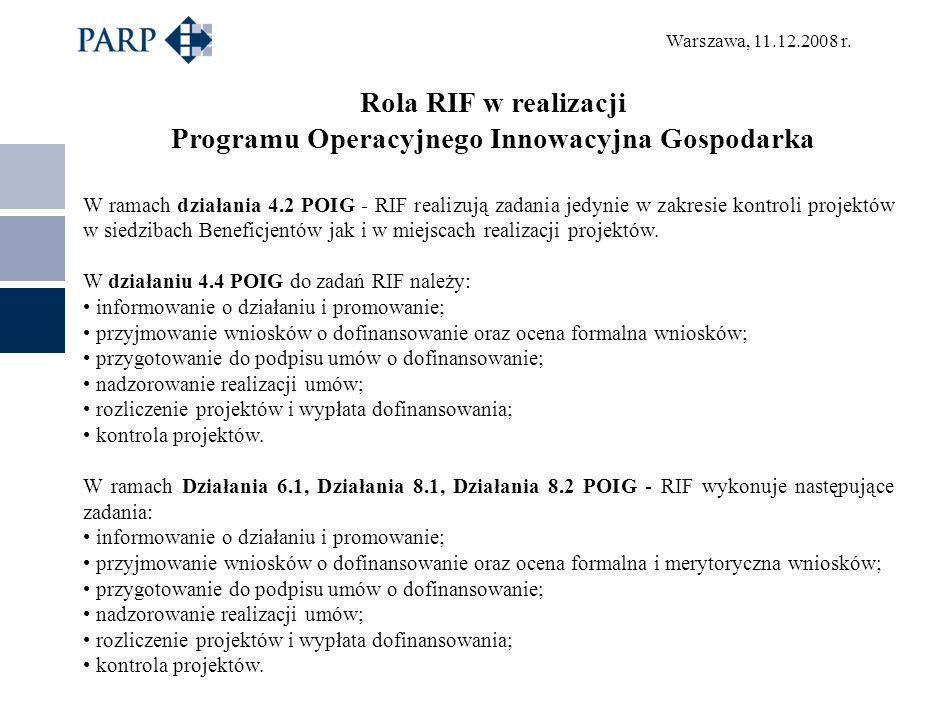Programu Operacyjnego Innowacyjna Gospodarka