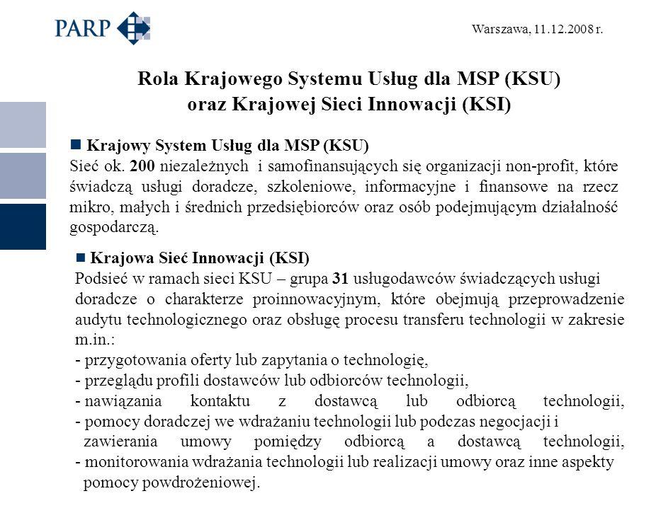 Rola Krajowego Systemu Usług dla MSP (KSU)