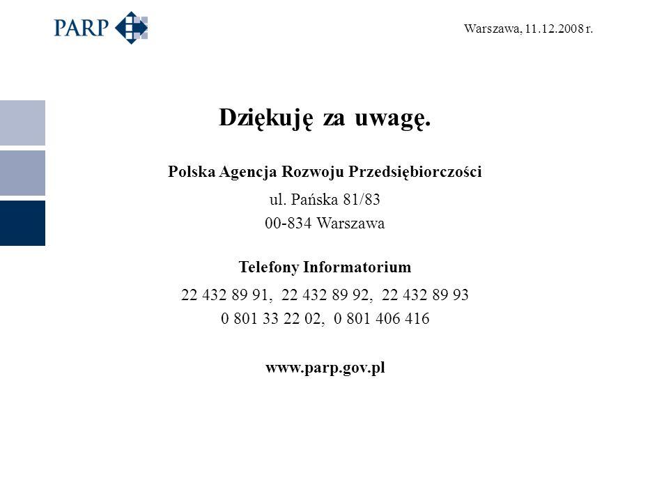 Polska Agencja Rozwoju Przedsiębiorczości Telefony Informatorium