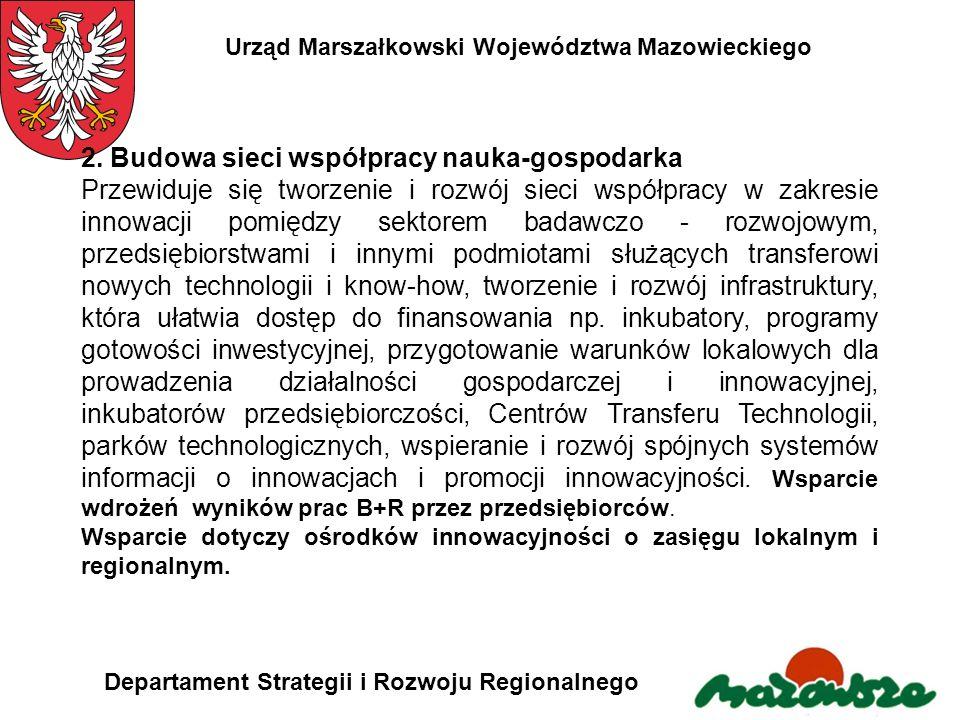 2. Budowa sieci współpracy nauka-gospodarka