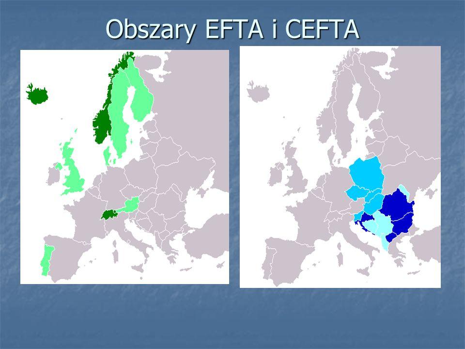 Obszary EFTA i CEFTA