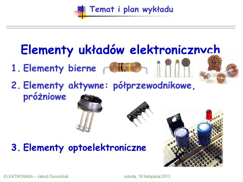 Elementy układów elektronicznych