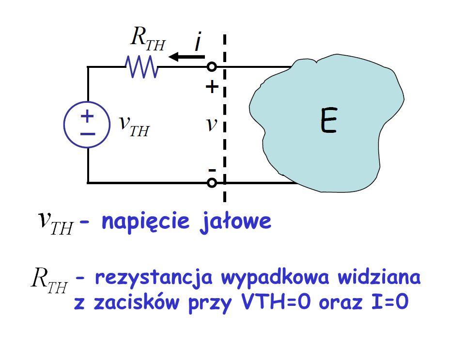 - napięcie jałowe - rezystancja wypadkowa widziana z zacisków przy VTH=0 oraz I=0 21