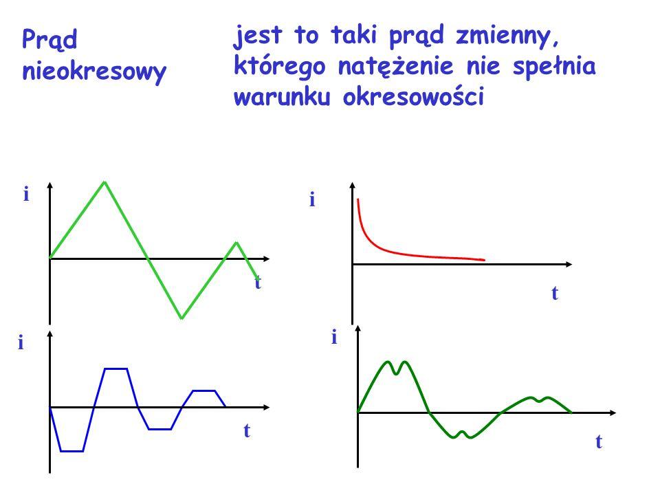 jest to taki prąd zmienny, którego natężenie nie spełnia warunku okresowości