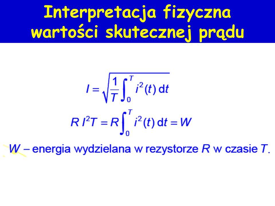 Interpretacja fizyczna wartości skutecznej prądu