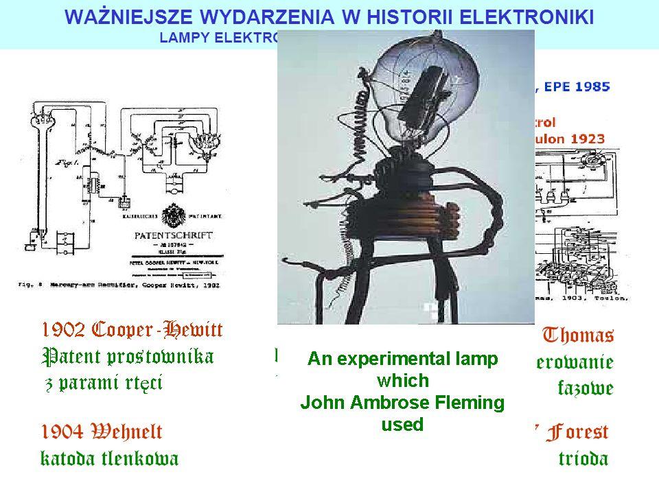1903 Thomas patent sterowanie fazowe 1905 kenotron GE 19 kV 0,1 A