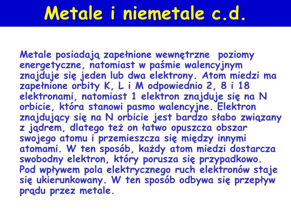 Metale i niemetale c.d.