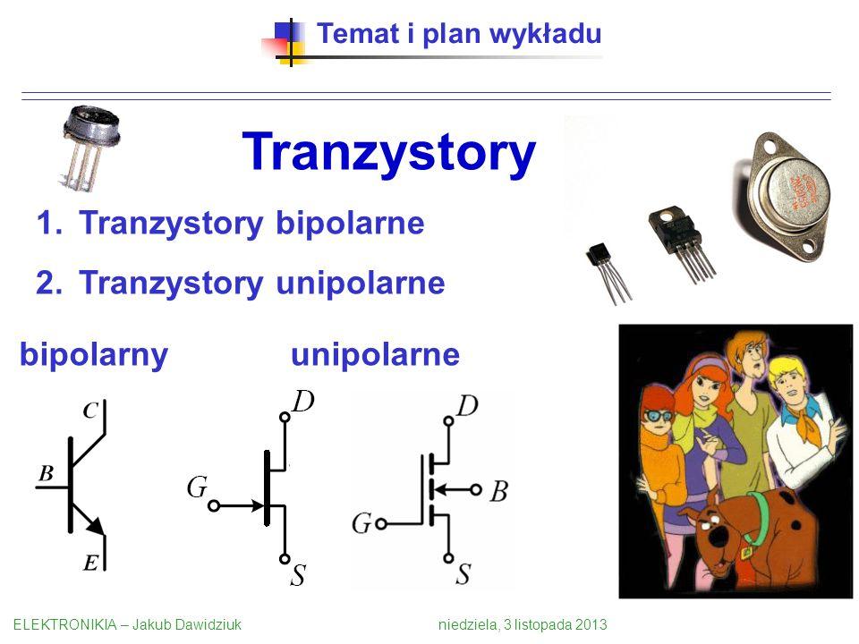Tranzystory Tranzystory bipolarne Tranzystory unipolarne bipolarny