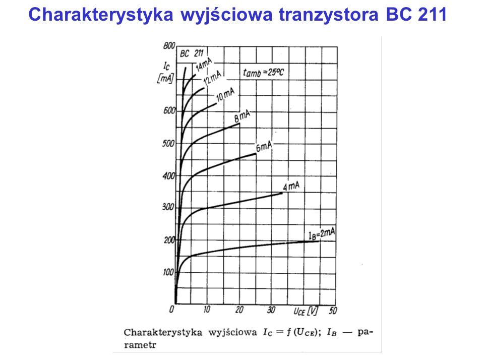 Charakterystyka wyjściowa tranzystora BC 211