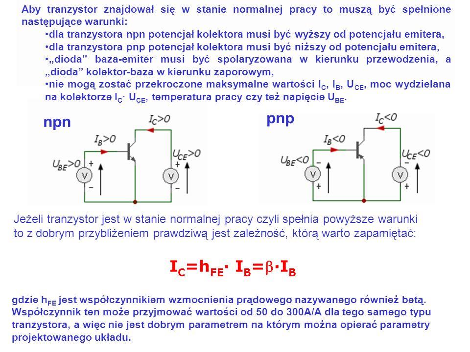 pnp npn IC=hFE· IB=b·IB