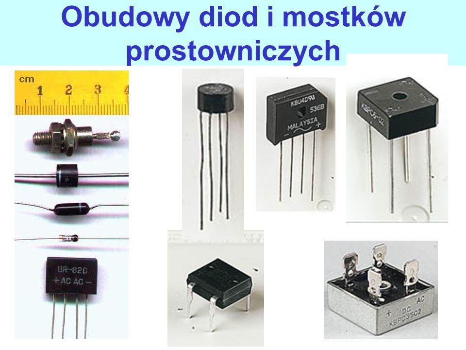 Obudowy diod i mostków prostowniczych