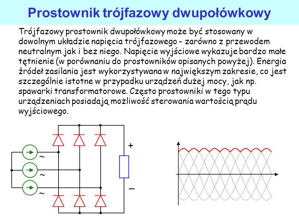 Prostownik trójfazowy dwupołówkowy