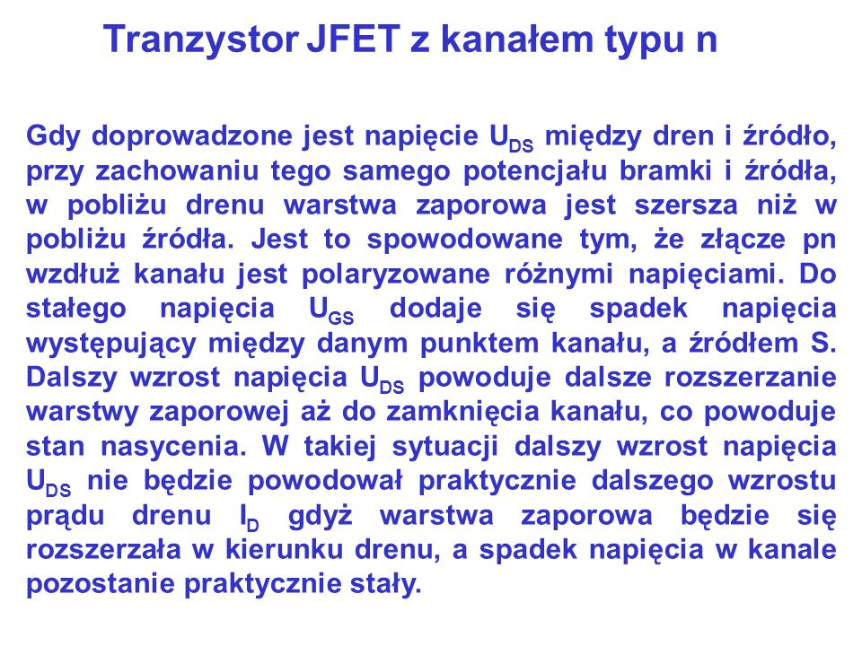 Tranzystor JFET z kanałem typu n