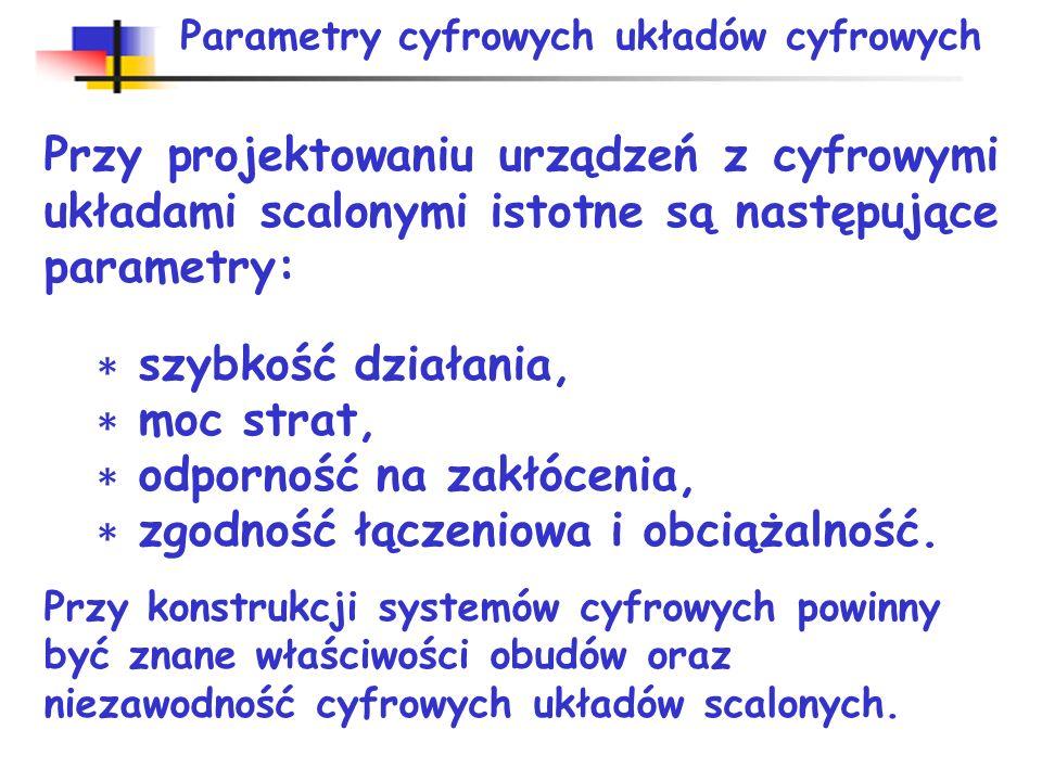 Parametry cyfrowych układów cyfrowych