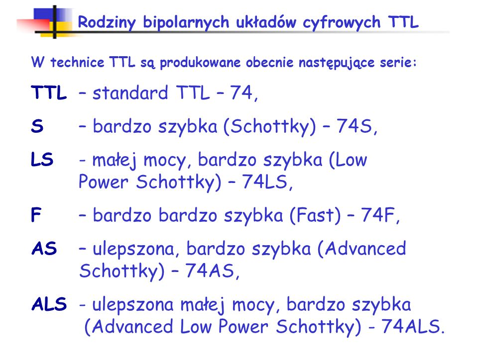 S – bardzo szybka (Schottky) – 74S,