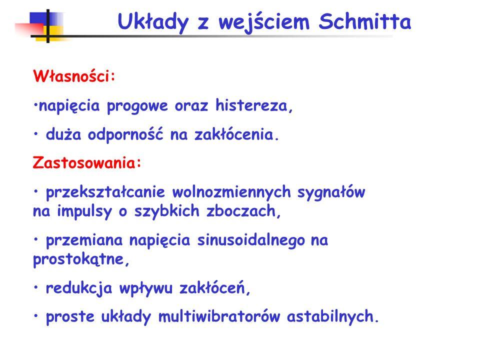 Układy z wejściem Schmitta