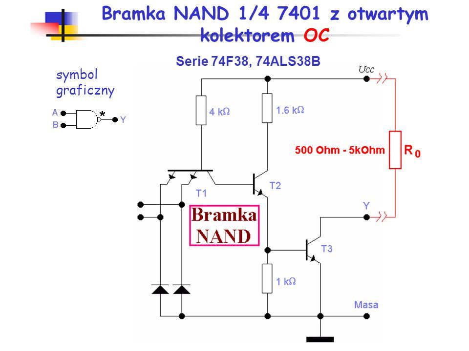 Bramka NAND 1/4 7401 z otwartym kolektorem OC
