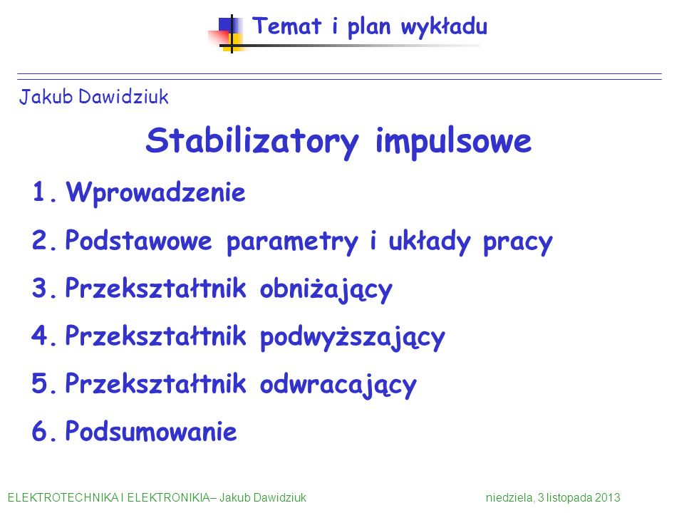 Stabilizatory impulsowe