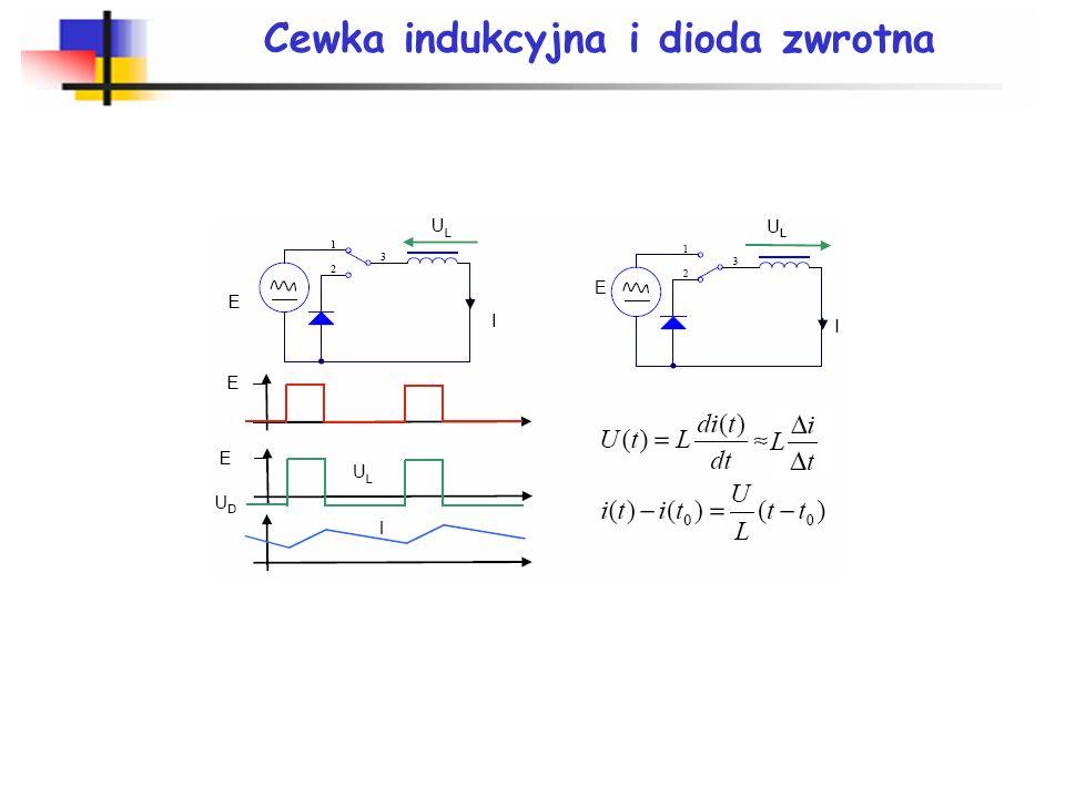 Cewka indukcyjna i dioda zwrotna