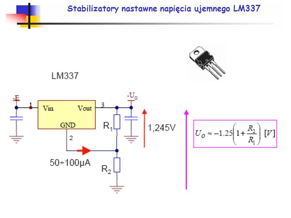 Stabilizatory nastawne napięcia ujemnego LM337