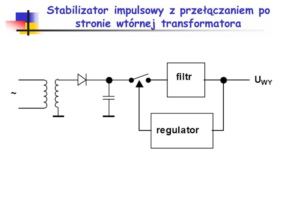 Stabilizator impulsowy z przełączaniem po stronie wtórnej transformatora