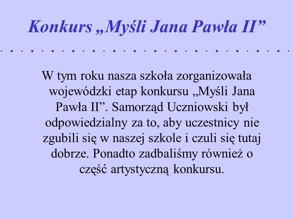 """Konkurs """"Myśli Jana Pawła II"""
