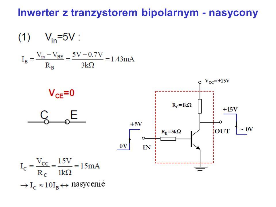 Inwerter z tranzystorem bipolarnym - nasycony