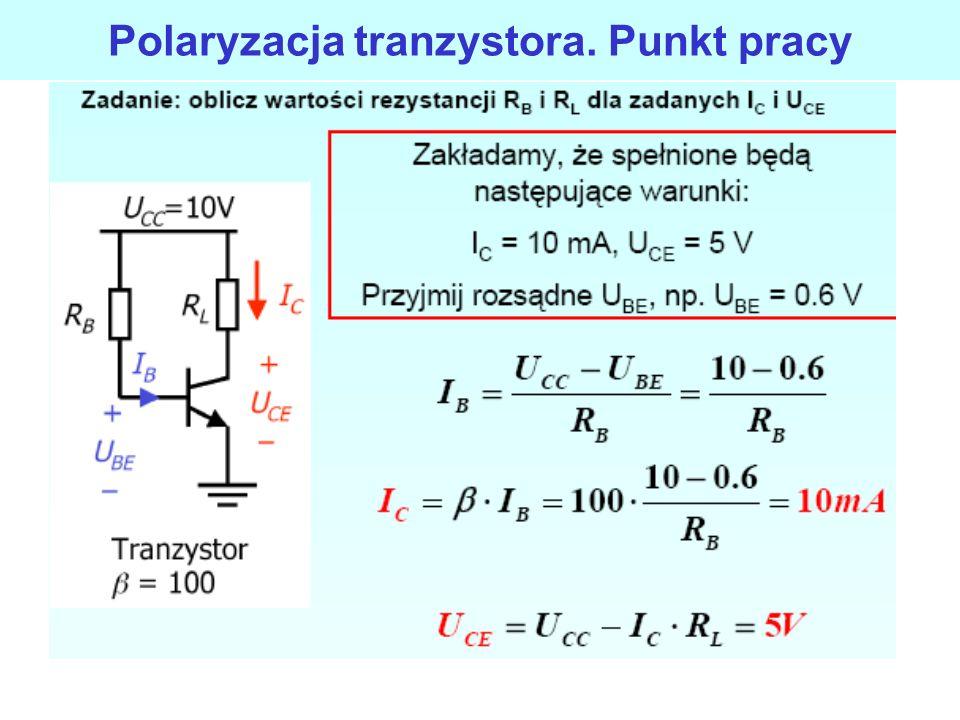 Polaryzacja tranzystora. Punkt pracy