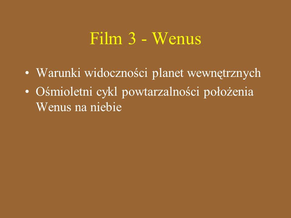 Film 3 - Wenus Warunki widoczności planet wewnętrznych