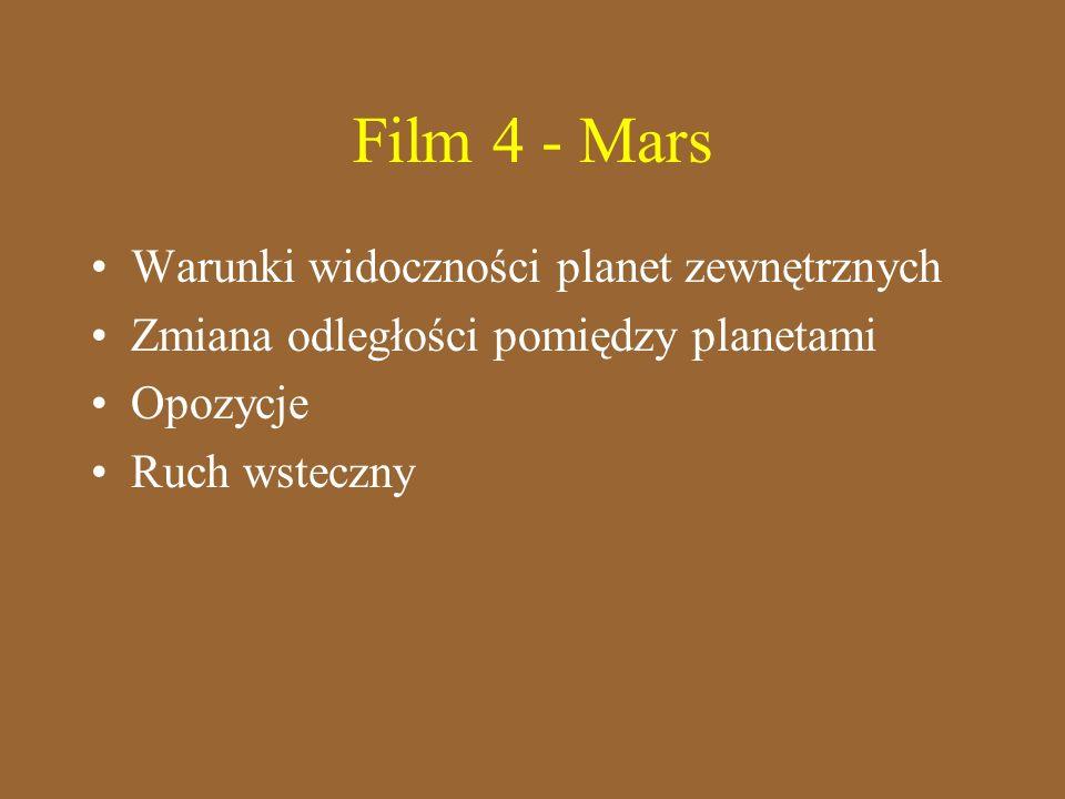 Film 4 - Mars Warunki widoczności planet zewnętrznych