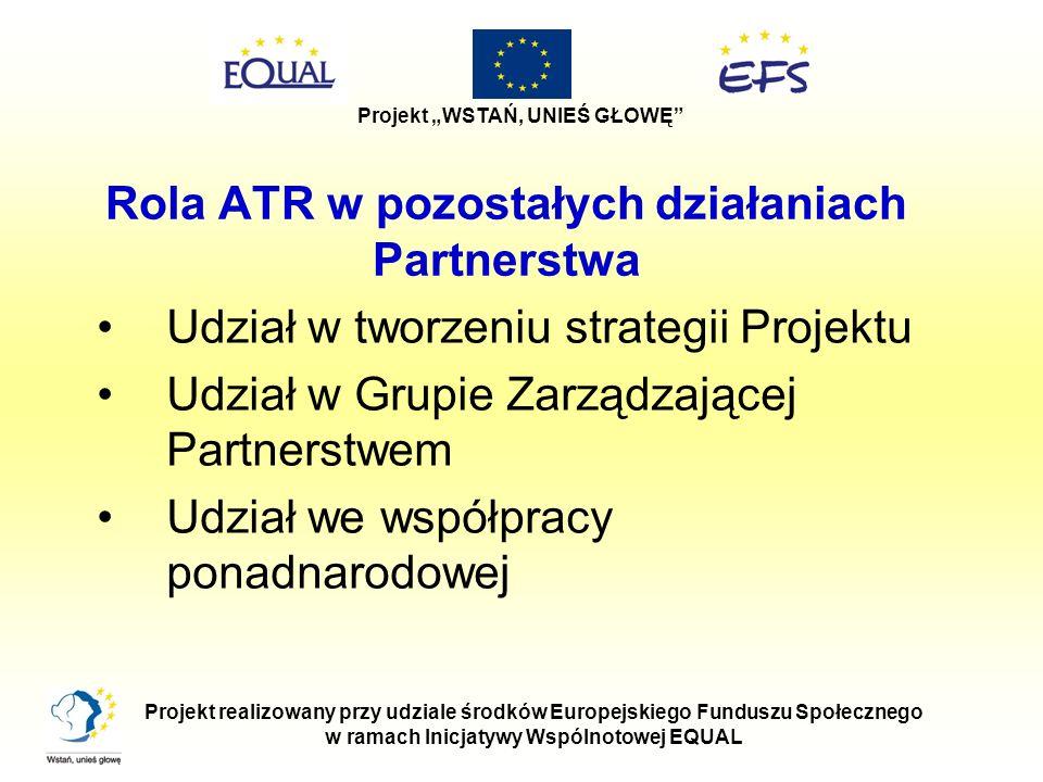 Rola ATR w pozostałych działaniach Partnerstwa