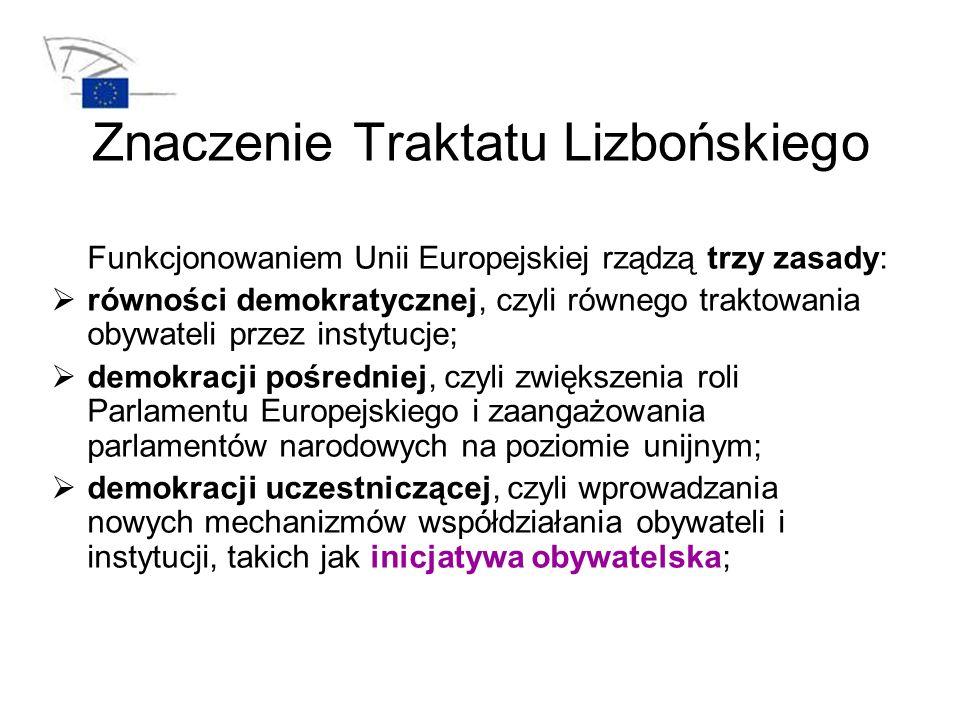 Znaczenie Traktatu Lizbońskiego