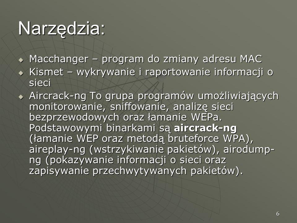 Narzędzia: Macchanger – program do zmiany adresu MAC